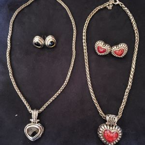 Set of Two Necklace and Earring Sets